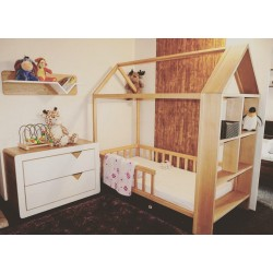 Łóżko-domek Z-drewutni SVEN